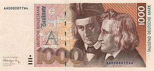 1000 Deutsche Mark, Obverse