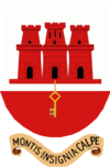 Coat of arms of Gibraltar Fortress and Key.png