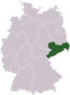 Svobodný stát Sasko na mapě Německa
