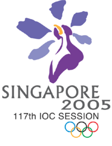 Logo of the 117th IOC Session, Singapore.