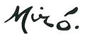 Unterschrift von Joan Miró