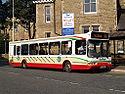 Rossendale Transport bus 144 Dennis dart SLF East Lancs Spryte PF52 WWL in Rawtenstall, Greater Manchester 18 September 2008.jpg