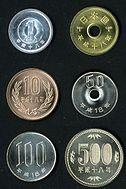 六種不同面額的硬幣
