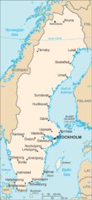 Kart over Kongeriket Sverige