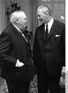 Ludiwig Erhard und sein Nachfolger Kurt Georg Kiesinger