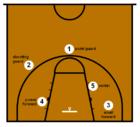 Basketball half-court