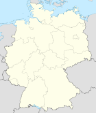 Deutschlandkarte, Position der Stadt Mannheim hervorgehoben