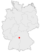 罗滕堡 (陶伯河)在德国内的位置图
