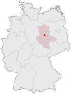 马格德堡在德国内的位置图