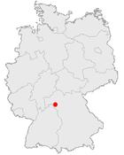 Würzburg na mapě Německa