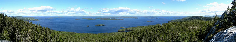 Panorama do Lago Pielinen.