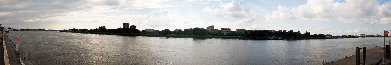 Vedere panoramică, râul Scheldt