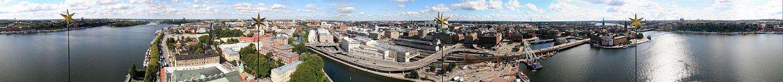 Foto panorâmica da cidade.