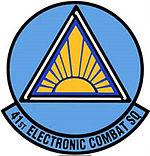 41st Electronic Combat Squadron emblem