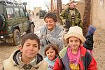 Afghan children and Norwegian forces in Balkh.jpg
