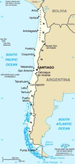 Mapa  República do Chile