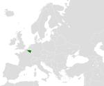 Valonsko na mapě Evropy