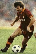 Roberto Pruzzo in 1978-1979, with AS Roma jersey.