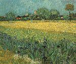 Veduta di Arles con iris, 1888, Van Gogh Museum, Amsterdam.