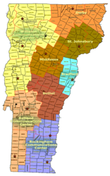 VT - State Police Barracks map.png
