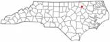 Ubicación en el condado de Halifax y en el estado de Carolina del Norte Ubicación de Carolina del Norte en EE.UU.