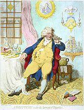 James Gillrays karikatur av den engelske kronprins Georg som storeter 1792 viser buksesmekken på 1700-tallets knebukser: en brei klaff med knapper. Buksa har også klokkelomme. Klaff er beholdt i klaffebrøker og lederhosen.