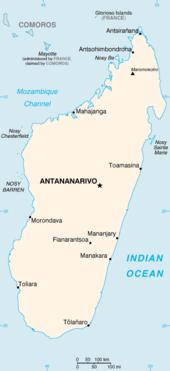 Mapa  República de Madagáscar