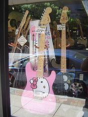 Hello Kitty Stratocaster