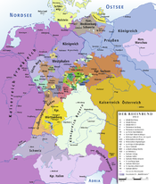 Map of the Confederation of the Rhine