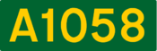 A1058 road shield
