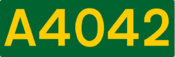 A4042 road shield