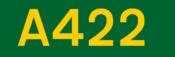 A422 road shield