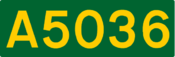 A5036 road shield