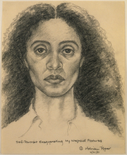 Adrian Piper, Self-Portrait Exaggerating My Negroid Features