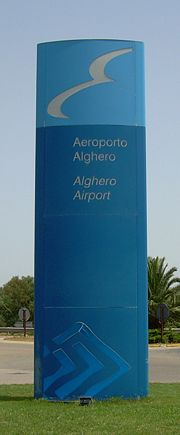 Alghero Airport sign.JPG