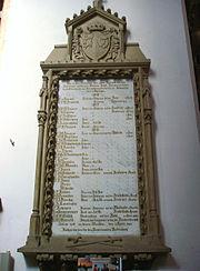 Gedenktafel an die Gefallenen des Krieges im Dom zu Schleswig
