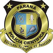 Brasão da Polícia Científica do Paraná.