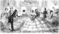 """A Splendid Spread"", early satire on the crinoline from The Comic Almanack for 1850."