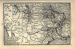 Kaart van de MoPac in 1903