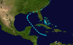 Track of the tropical storm