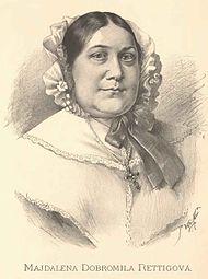 Portrét M. D. Rettigové od J. Vilímka