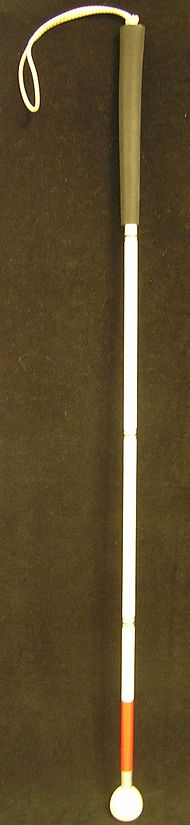 Slepecká hůl je mezinárodním symbolem slepoty.