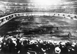 The first ever National Football League playoff game was held indoors at Chicago Stadium on  December 18, 1932.