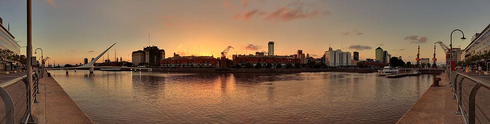 Panorama de Puerto Madero, una de las zonas con mayor crecimiento edilicio.