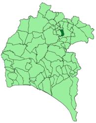 Linares de la Sierra – Mappa