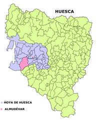 Almudévar – Mappa