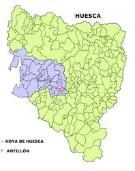 Antillón – Mappa