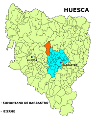 Bierge – Mappa
