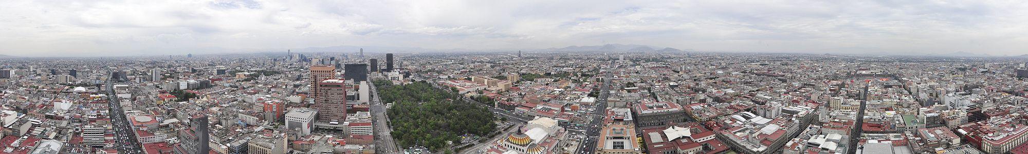 Panorama em 360º da Cidade do México visto da Torre Latinoamericana.