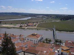 Le fleuve Sado vu du château d'Alcácer do Sal.